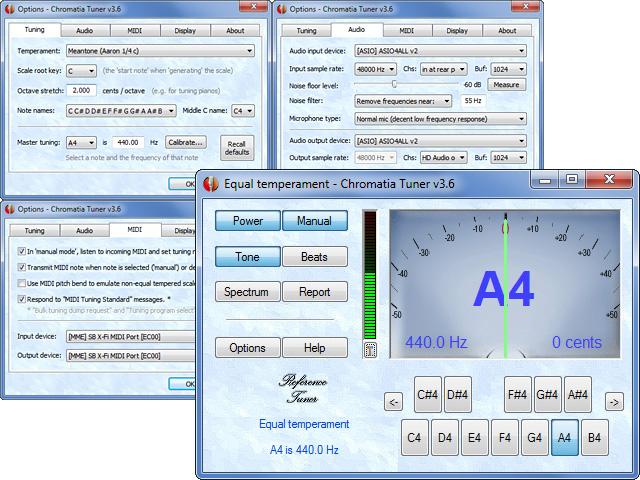 Chromatic Multi-Temperament Instrument Tuner