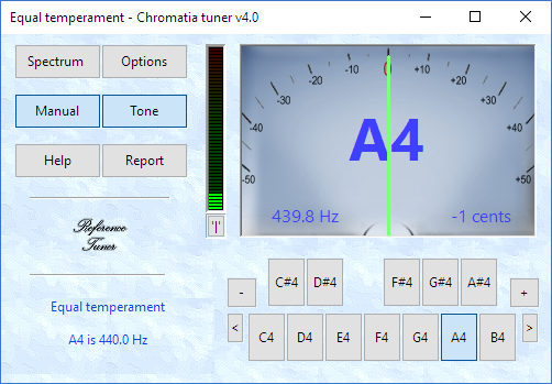 Chromatia tuner Screen shot