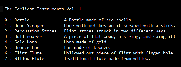 Earliest Instruments SoundFont