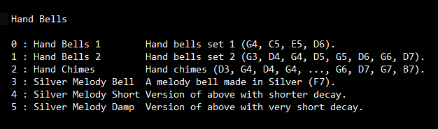 Hand Bells SoundFont Screen shot